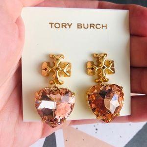 Tory Burch NWOT Roxanne Gold & Peach Earrings